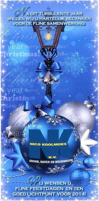 Fijne feestdagen en een goed lichtpunt voor 2014!
